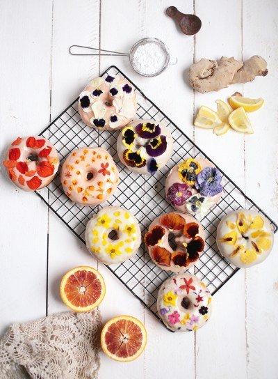 doughnut with sweet toppings for baby shower