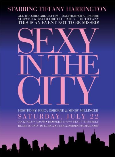 sexy in the city theme for bridal shower party