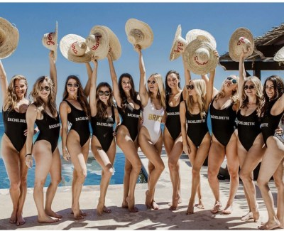 baywatch swimsuit style for bridal shower party