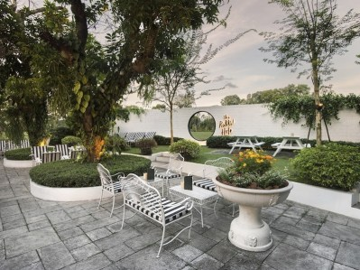 garden venue singapore for retro bridal shower party