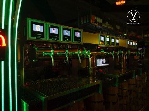 PIcture of its Very Own Microbrewed Beer Tap Machine at Pump Room