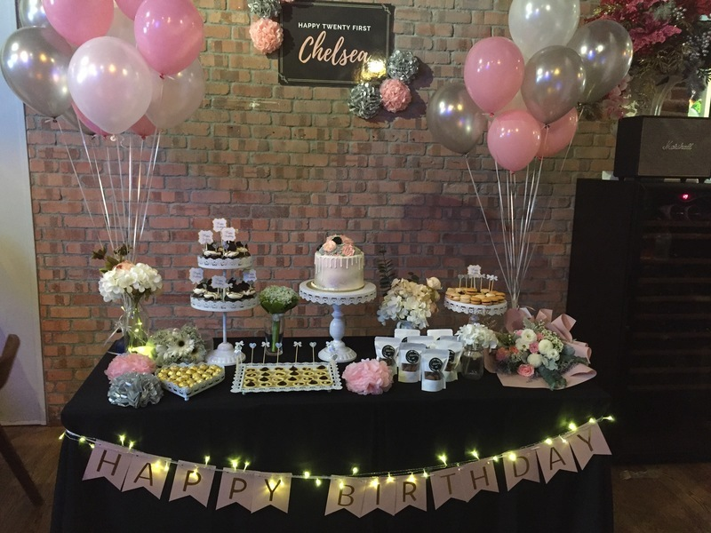 birthday party celebration table setting and decoration