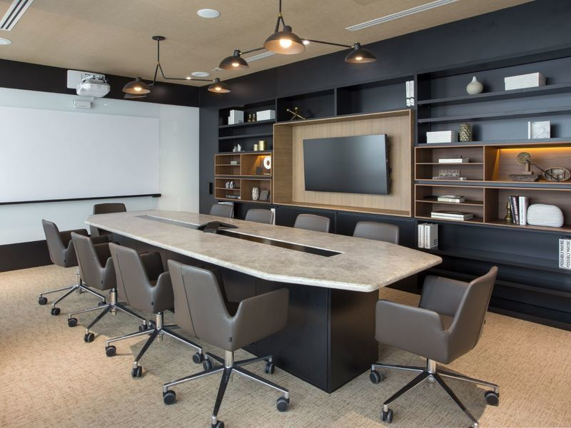 Modern and sleek meeting room at the KLOUD Keppel Bay Tower