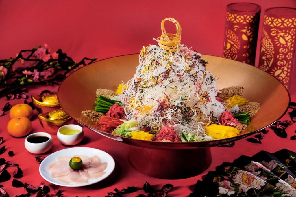 Pretty and delicious yuseng at Yan
