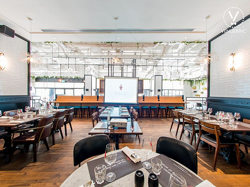 Modern and classy restaurant for business luncheons and dinner