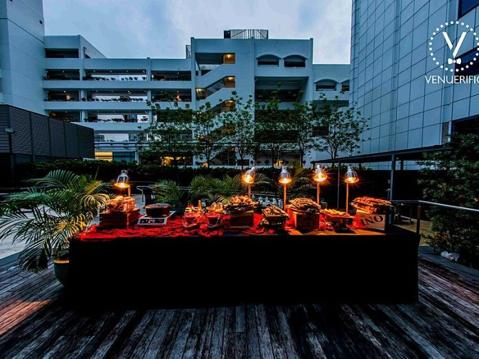 Singapore best outdoor event space for company dance and party