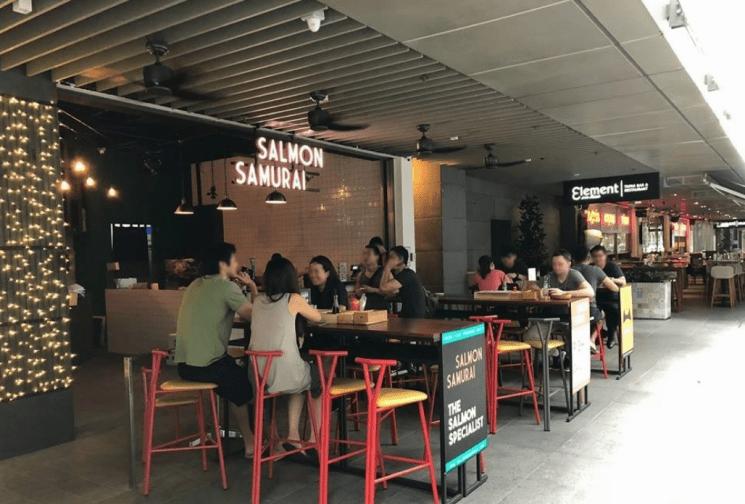 specialist salmon restaurant outdoor dining area