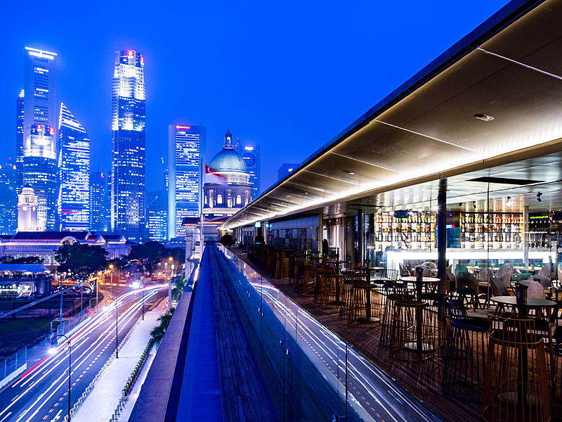 Panoramic view and elegant ambience from Aura Singapore