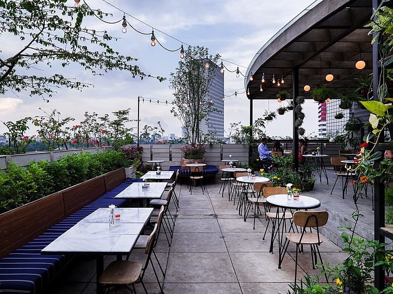 Beautiful scenery from Hause Kitchen & Rooftop Bar