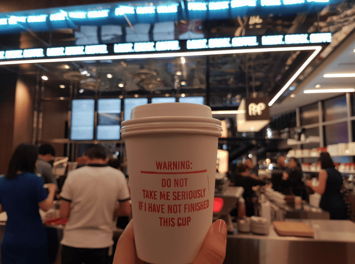 best coffee shop with catchy words in the glass funan mall