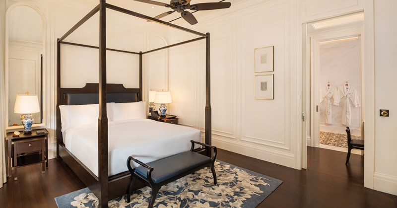 Singapore hotel with elegant room interior for couples staycation