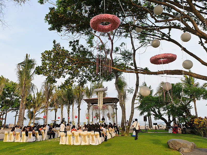 outdoor wedding solemnisation and party bali