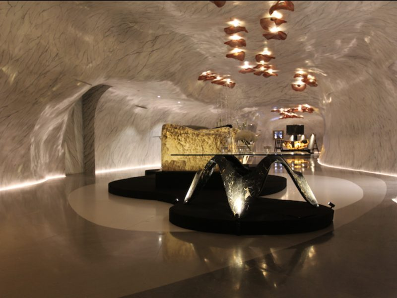 marble bended event space