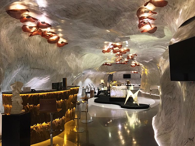 marble bended showroom
