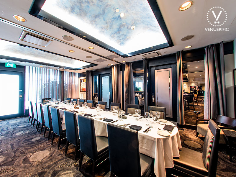 elegant fancy restaurant for private party