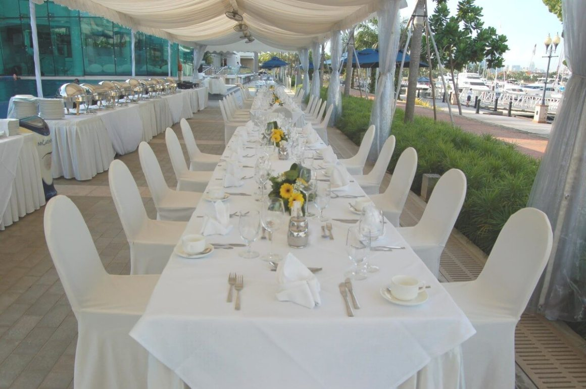 all white dining area at one degree 15