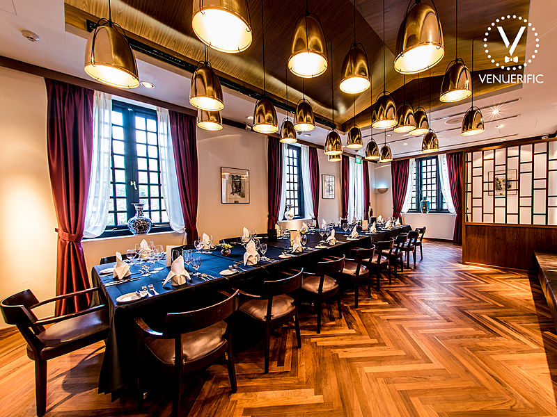 elegant private dining room with historical environment