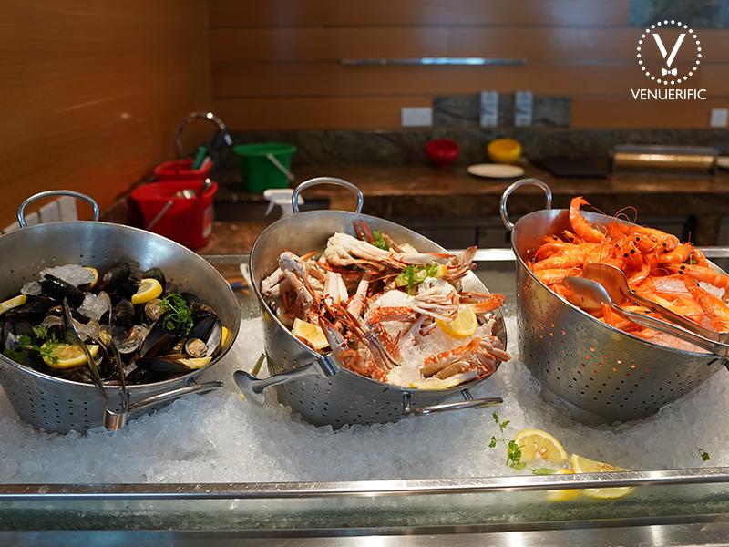 fresh seafood station for christmas buffet