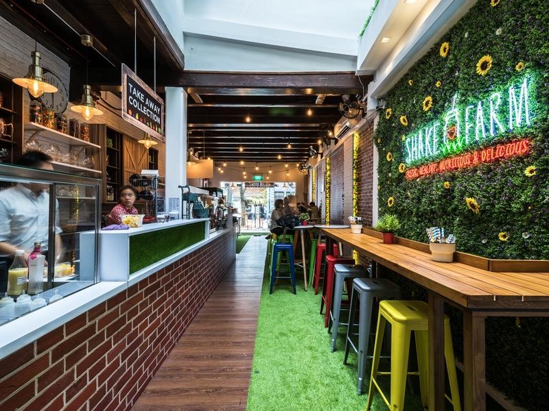 uniquely designed cafe with cozy interior
