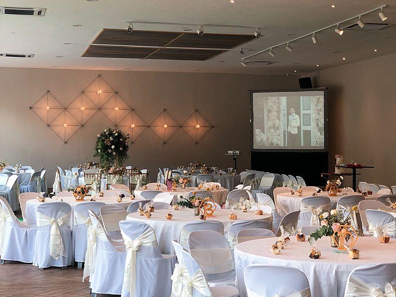 spacious wedding space at Horu