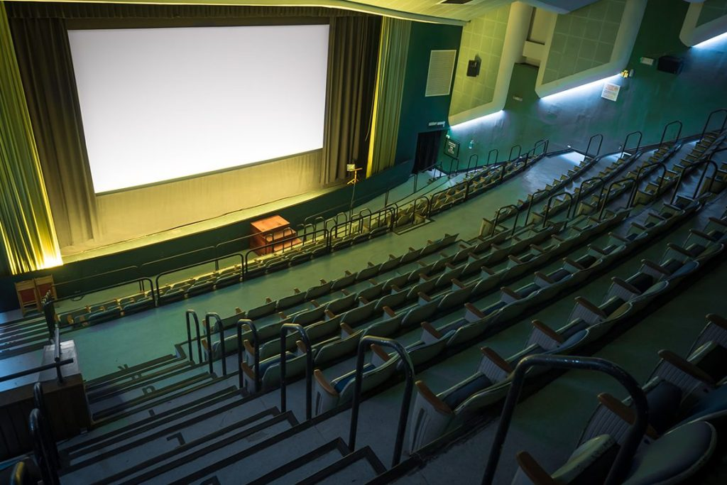large auditorium in singapore with stage