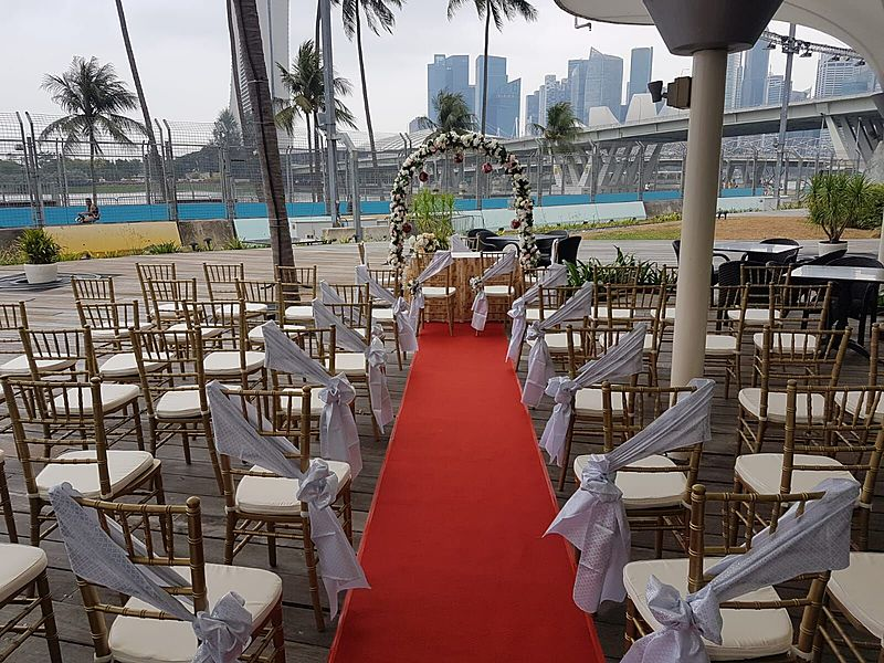 semi-outdoor wedding venue in singapore with river view