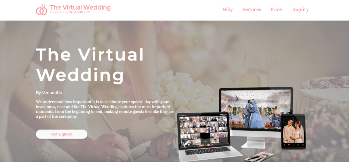 thevirtualwedding.co website