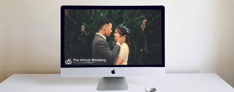 couples wedding on screen