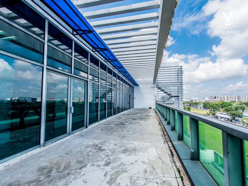 singapore venue with large balcony and garden view