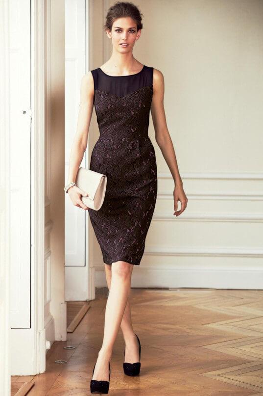 lady in a semi formal dress