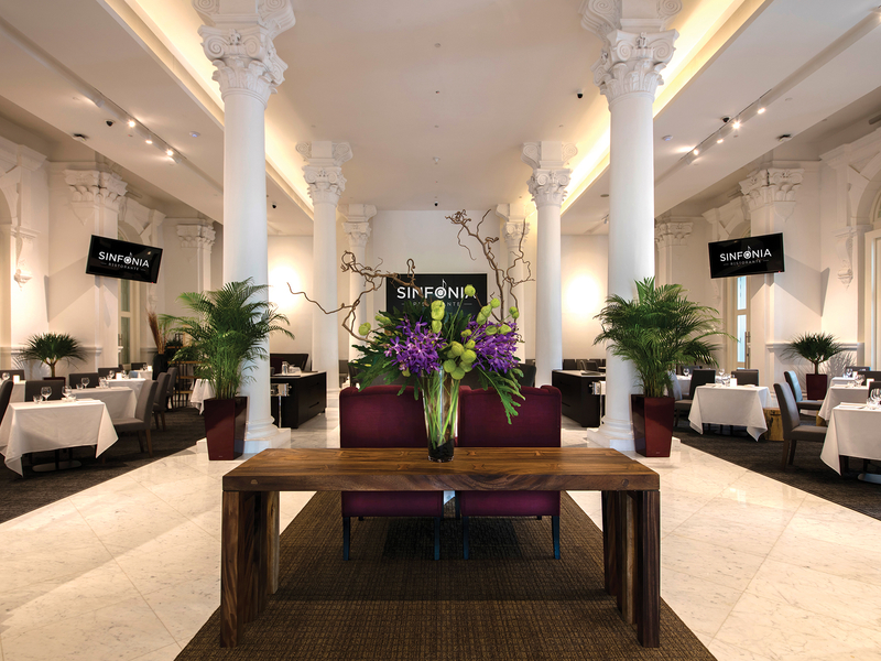 indoor restaurant with Victorian-style interior decor
