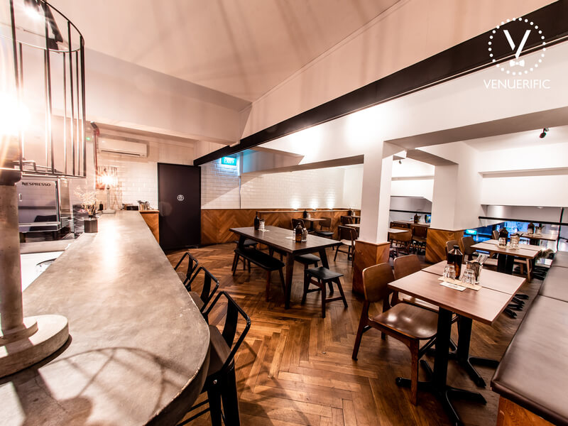 cafe with dining and bar area