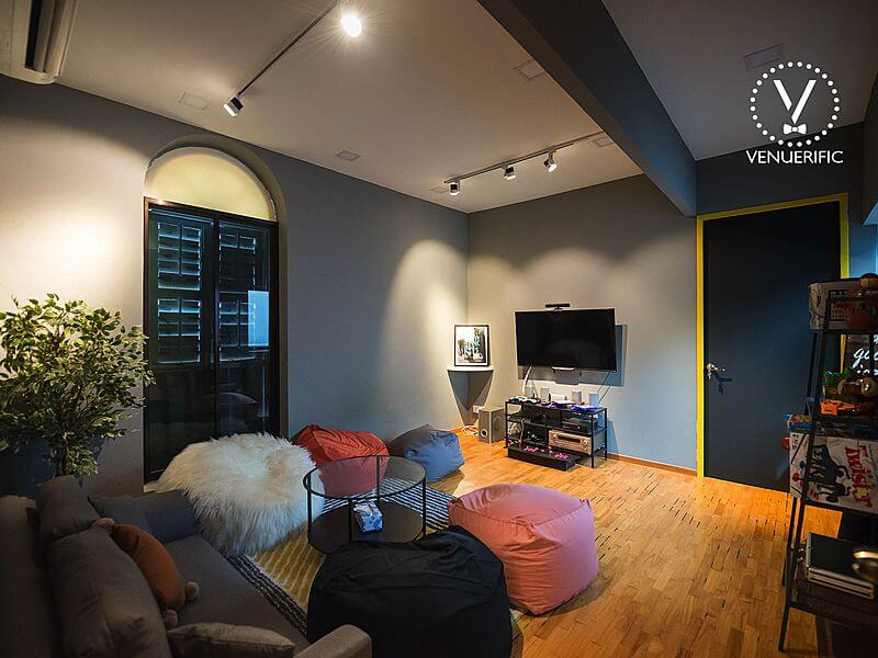 cosy corner for board games and console games