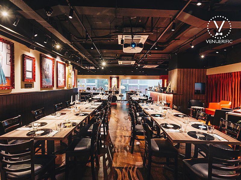 spacious dining area at Hard Rock Cafe