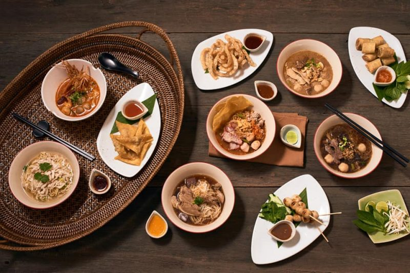 delicious thai food in a restaurant