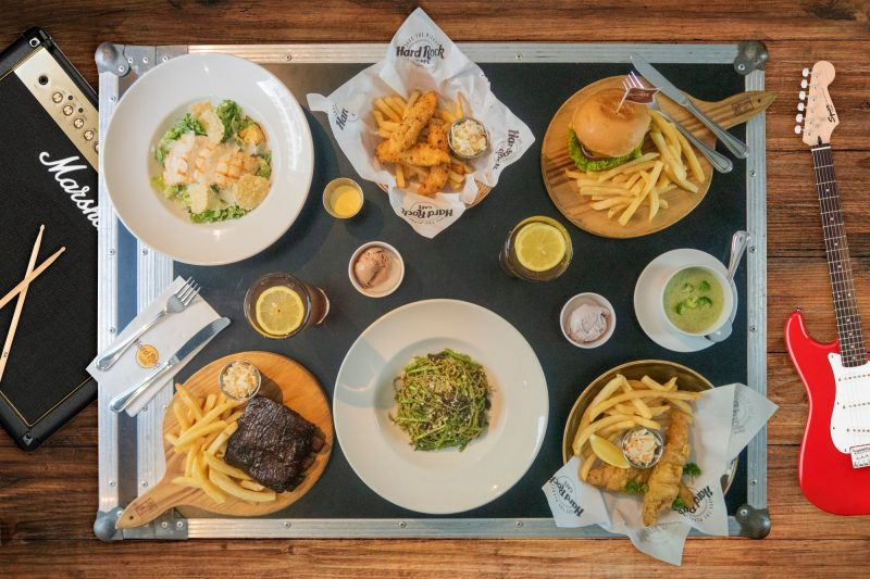 all american dining in a restaurant