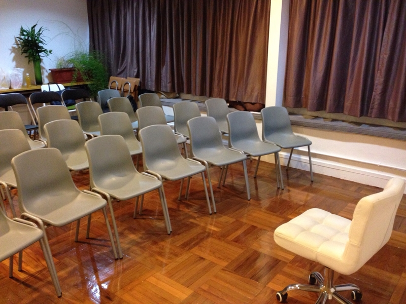 chairs lined up neatly in a room