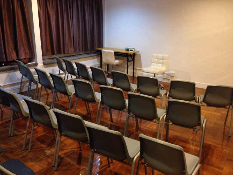 chairs arranged in a room for conference