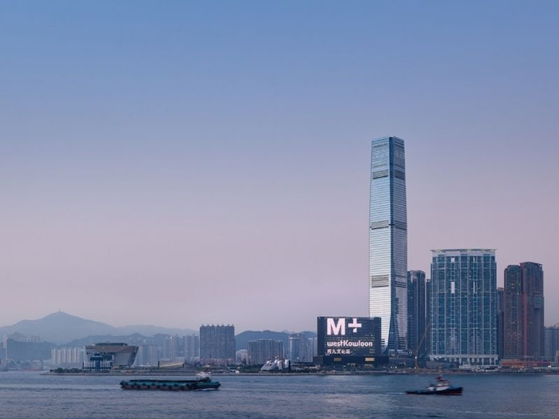 harbour view of city in hong kong