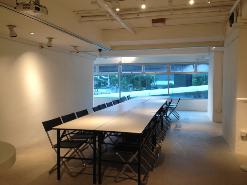 black chairs arranged for a meeting
