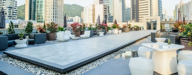 Rooftop Garden With Functional Stage And Fully Furnished