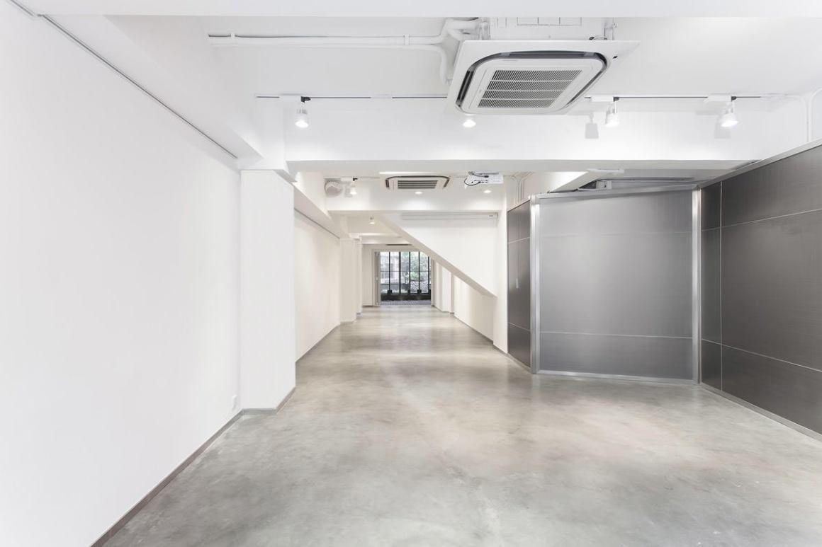 spacious minimalistic interior venue with air conditioning