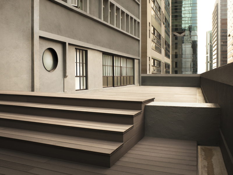 outdoor empty terrace in the city