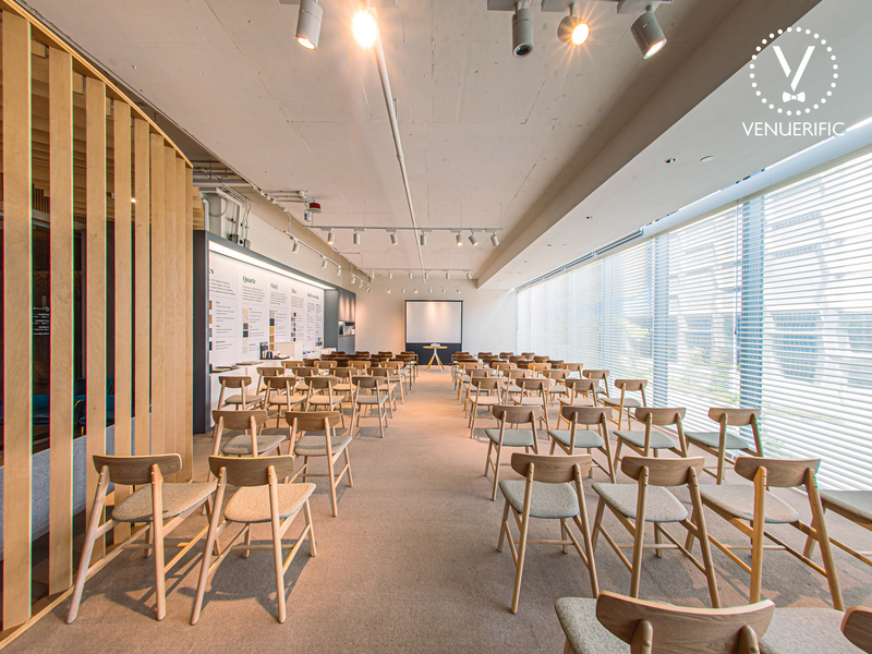 room filled with wooden chairs