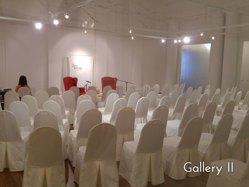 white chairs lined up in a room