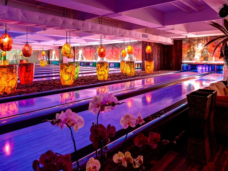Bowling alley with creative decor