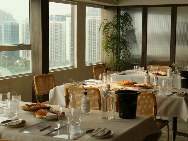 Indoor Private Room with tables and chair set up
