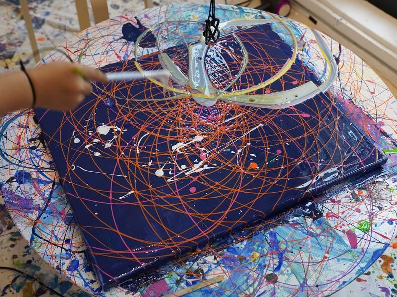 Canvas with pendulum art