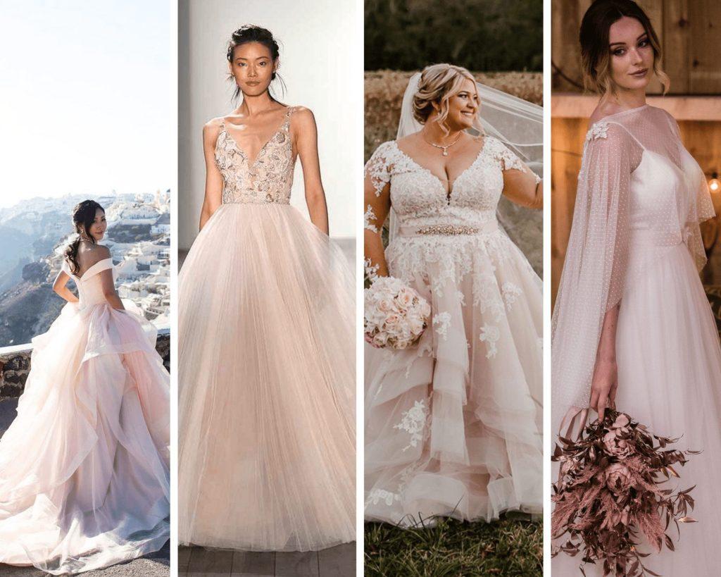 Blush Pink Wedding Dresses, Inspired by Pinterest