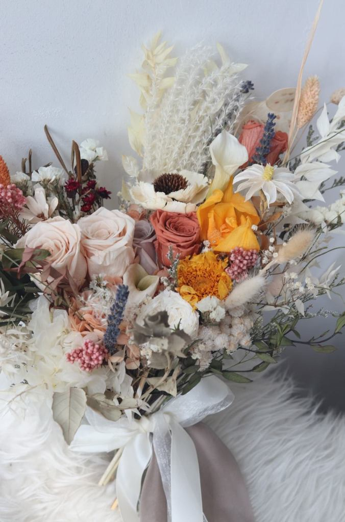 bouquet of preserved flowers
